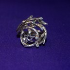 Pentagram Tree Silver Ring